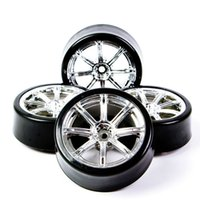 airplane tires - 6mm Offset Degree Drift Rubber Tires Electroplated Wheel Hub mm Hex Fit HPI On Road Remote Control Car Toy Accesory order lt no t