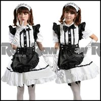japanese dress style - Japanese style girl lolita cosplay dress costume women role playing lovely maid dress maid uniform school performance RAW0445