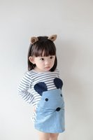 Wholesale Little Princess Baby One Piece - Little Girls Casual Dress 2015 Baby kids Girl Dress Princess Striped Party Kids One-piece Dresses Costume Hot selling