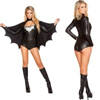 batman themes - Superhero Superwoman Black Batman Sexy Party Adult Female Theme Costume Halloween Uniform Temptation Pumpkin Cosplay Performers Wear