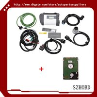 airbags for trucks - Benz car tools interface mb star c4 MB SD Connect Compact with WIFI mb sd c4 for Cars and Trucks with software hdd of DHL free
