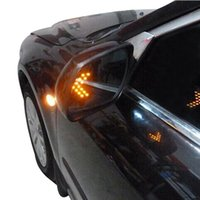 arrow headlights - Amber Arrow Panel SMD LED Auto Car Turn Signal Indicator Light Rear View Mirror Car Side Mirror Led Lamp Bulb