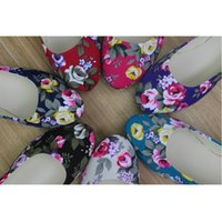 ballet roses - New Women s Casual Flowers Canvas Shoes Gift Fashion Spring Autumn Multi color Roses Girls Flat Shoes EU35 EU41