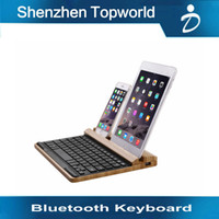 bamboo laptop case - Hot sale Really Bamboo Mini Wireless Bluetooth Keyboard Case Cover for Apple IOS iPad Mini Samsung Galaxy Tab Pad