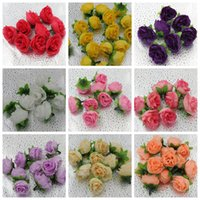 Wholesale MIC Silk Rose Artificial Flowers for Making Flower Balls Tabble Scatters Craft Wedding Supplies Colors