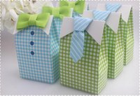 paper box for chocolate - Wedding Favor Box Print Bow tie Paper Bags Small Gift Chocolate Sweet Favors Candy Boxes For Gifts Party PackagingBG50