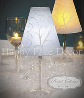 Wholesale 10 Wine Glass SHADES by David Tutera Vellum SWIRL WEDDING Party Table Decoration