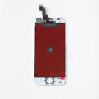 LCD para el iPhone 5 5G Fedex libre el ccsme DHL de la nave con la pantalla táctil del sistema completo de la Asamblea color blanco y negro