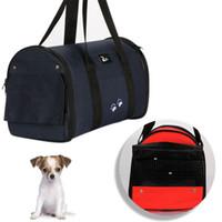 Wholesale Wholesales Portable Handbag Pet Carrier Cat Dog Cage Outdoor Travel Carrier Case Cage Tent Kennel Bag Crate Size S M L HB0020 Kevinstyle