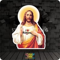 Wholesale JESUS STICKER random non repeating bike skateboard deck notebook laptop car wall Motorcycle stickerbomb PC luggage Fixed Gear