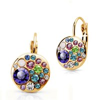 big button earrings - Earrings Stud Earrings Fashion Classic Earrings Austrian Crystal Colorful Big Button For Women Birthday Jewelry E333 B6