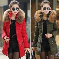 women winter warm long jacket - Women s Winter Thicken Keep Warm Down Zipper jacket Long Cotton padded Outwear SV006238