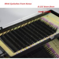 artifical eyelash - mm0 C Curl False Eyelashes Extension Artifical Natural Individual Eyelashes High Quality Mink Lashes Design By Korea