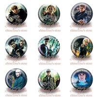 Wholesale 90Pcs Harry Potter Kids CartoonTin Buttons pins badges MM Round Brooch Badge For Children Toy Mixed Models Kids Party Favor
