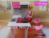 Wholesale Girl birthday gift plastic Play Set Furniture Kitchen accessories for barbie doll