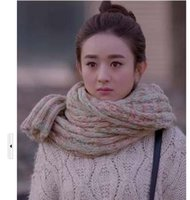 Wholesale Women Scarves scarf stuffed with money coarse colorful scarf to keep warm
