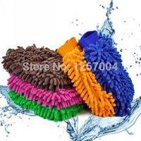 Wholesale 30pcs Car Wash Glove Microfiber Chenille car cleaning cloth chenille car cleaning glove mitt