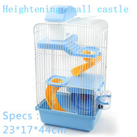 Wholesale 2015 New multicolor pet gaiola hamster cage Heightening Castle Travel carry hamster cages