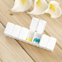 Wholesale Hot One Week days small Medicine Pill Drug Box Pill Drug Mini Pillbox Container Non removable plastic Case Big Discount