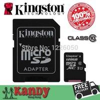 Cheap Kingston micro sd xc sdhc card memory card 8gb 16gb 32gb 64gb 128gb class 10 cartao de memoria tarjeta flash tf card lot microsd
