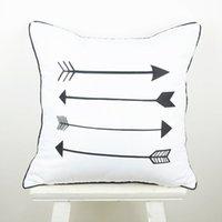 arrow cases - 45 cm Home Decorative European Ikea Black White Arrow Throw Pillow Case for Wedding Gifts capa de almofada