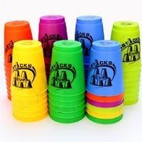 Wholesale Magic Flash Speed Stacks Flyingcup Colors Professional Competition Speedstack Cups Christmas Gift Speed Flying Stacks Educational Toys