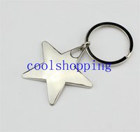 Wholesale Novelty Zinc Alloy Star Shaped Keychains Metal Star Keyrings for Gifts