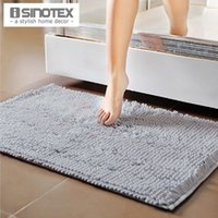 bath mat sizes - 50x80cm Larger Size Soft Shaggy Floor Mat Family Area Rug Dirt resistant Water proof Bath Mat Anti Slip Footcloth Chenille Mat