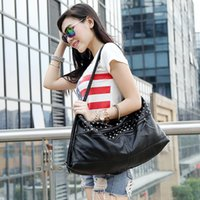 Women candy handbags - The punk Rivet Motorcycle handbag Europe and America style wash leather handbags china women brand candy handbags Z M0426