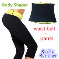 slimming pants shaper - Pants waist Belt HOT Selling Hot Shapers Sports pants set Women s Slimming Sets girdles Shapewear Body shaper Waist training corsets