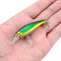 Cheap 7cm 7g 3D Eyes Minnow Fishing Lure With Treble Hook Plastic Artificial Fishing Tackle Hard Bait Lures Pesca Wobbler Swimbait