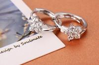 Wholesale Top grade silver hoop earrings for women fashion earring anti allergic silver jewelry