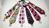 Neck Tie active pet - kid s printed small ties universal children pet cartoon neckties elastic paillette magic show stage nightclub