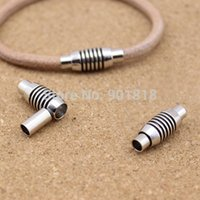 Cheap Inner size 4mm fitting leather cord 10pcs lot rhodium copper magnetic clasp for DIY jewelry F1018