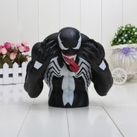 venom - 17cm Spiderman Venom PVC Figure Collectible Toy Piggy Bank Save Money Box in opp bag