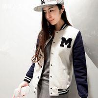 baseballs outerwear jackets - New Autumn and Winter Letter M Varsity Jacket Long Sleeve Baseball Coat Sportwear women Baseball Sports hoody sweatshirt outerwear