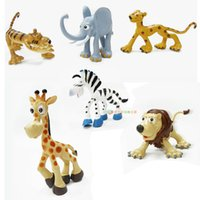Wholesale TOP pieces pack Funny Jungle Animals Model Toys cm Lion Tiger Leopard Lovely Decoration Figures Children Gifts