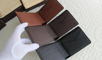 bifold card holder - Men Women Wallets Vintage Christmas Gift Genuine Leather Cowhide Short Bifold Wallet Purse Card Holder With Gift Box