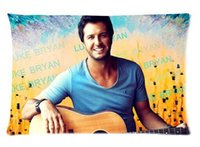 Wholesale Luke Bryan theme Pillowcase Custom Two Side Picture Size x30 Inch Pillow Case Cover