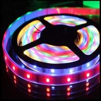 Wholesale IP67 V M LEDs M Pixels LPD8806 Flexible SMD RGB LED Strip Light Addressable Full Color pin IP67 Waterproof