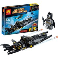 batman helicopter toy - EMS Free Children The Avengers Batman Building Blocks New Boys girl Super hero Batman helicopter scene DIY Bricks baby Toys B001