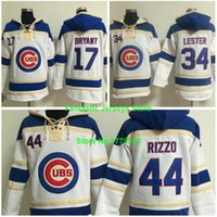 Wholesale Chicago Cubs Jersey Kris Bryant Jon Lester Anthony Rizzo Pullover Hooded Sweatshirts Stitched Authentic Quality