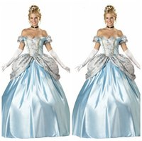 Wholesale New Snow White Cap Sleeve Sweetheart Neck Sexy Halloween costumes dress party drag Cinderella Prom Dresses