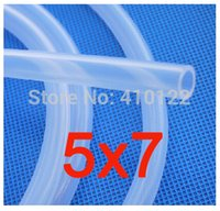 Wholesale 5x7mm Flexible Silicone Hose Medical Use Silicone Pipe Garden Hose Reels