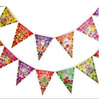 Wholesale 21 cm Santa Claus flag triangle flags Decoration Christmas flags Decor Christmas Decorations per CHR