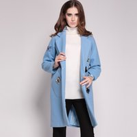 beaded trench coats - Luxury Women Butterfly Beaded Coat With Pocket Turn Down Collar Trench M15200E