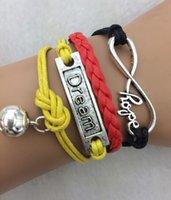 Cheap 3pcs World Cup 2014 Soccer World Cup theme bracelet flag football fans bracelet braided bracelet 3770