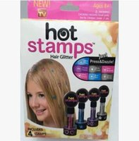 Wholesale 30pcs hot stamps hair glitter