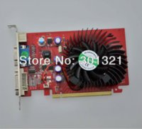 Wholesale 100 NEW NVIDIA GeForce GPU GS MB DDR2 PCI Express16X S Video VGA DVI Video Card card sim