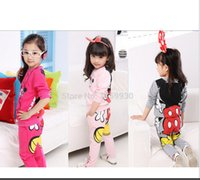 Wholesale baby girl s minnie clothing set children sport suit kids long sleeve T shirt pants clothes set new Autumn Spring